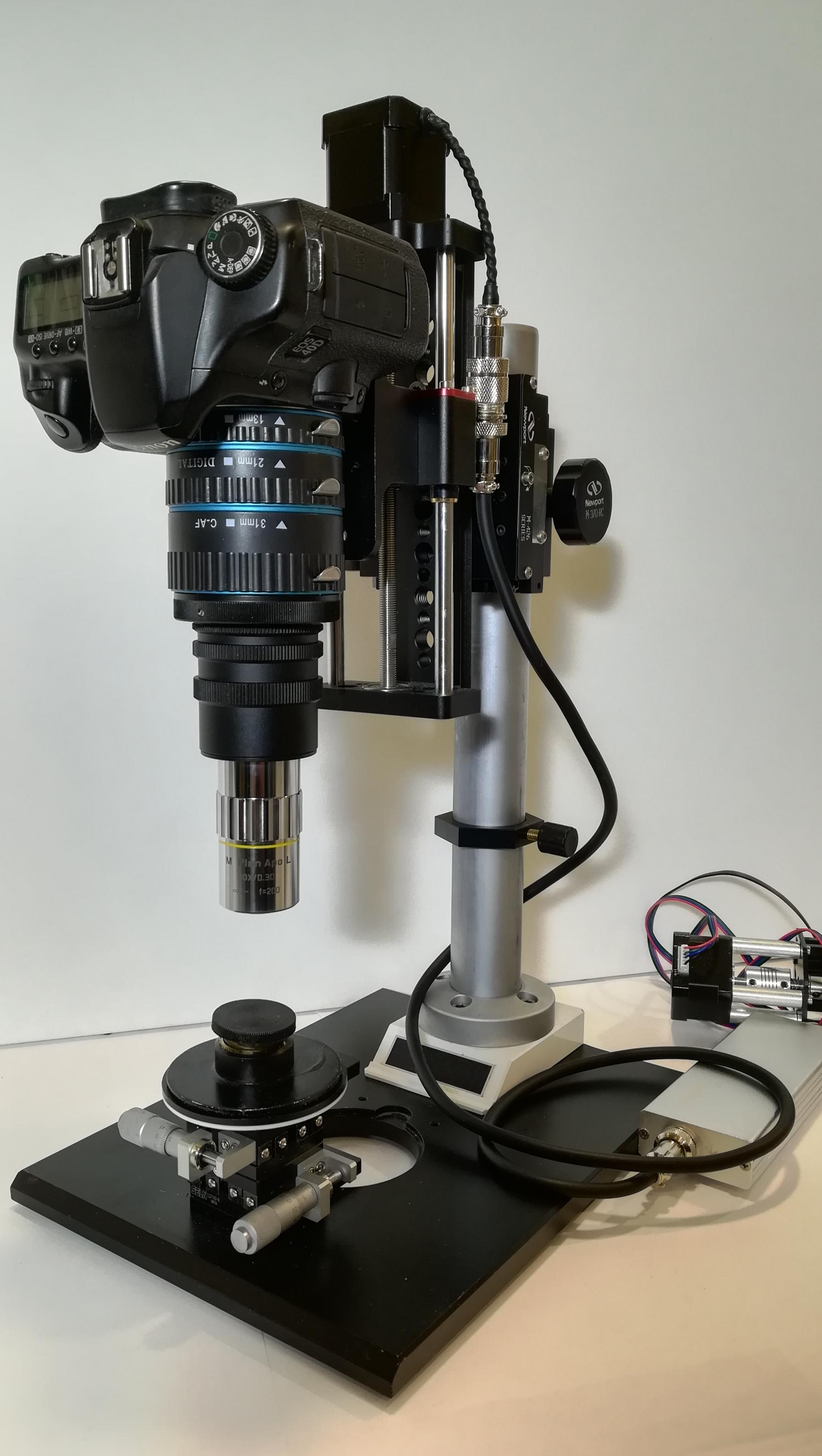 Prototype de stacking pour prise de vue à multiple profondeur de champ avec reflex numérique