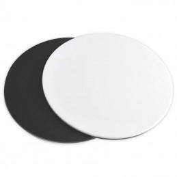 Disque fonds noir et blanc